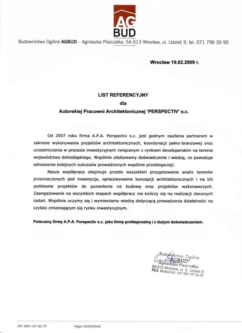 List referencyjny_AgBud-N Kamienica
