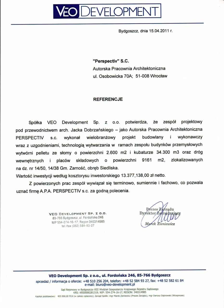 List referencyjny_VeoDevelopment
